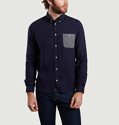Kolin organic Oxford cotton and lyocell shirt with pocket