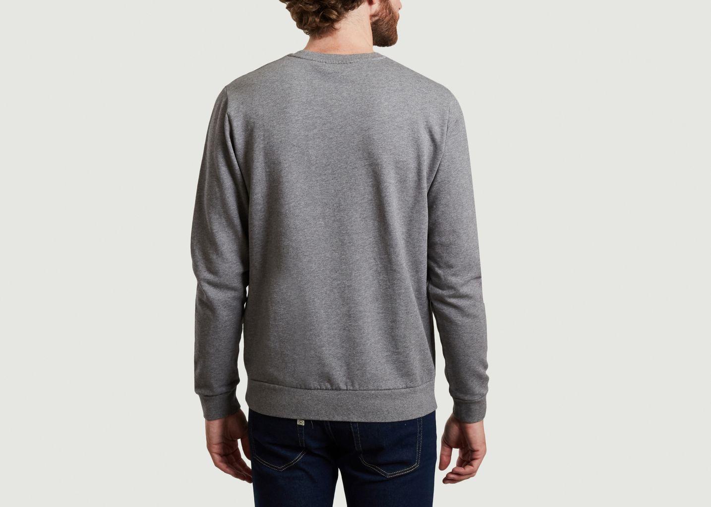 Sweatshirt en coton bio brodé surf in paris Kurtis - Cuisse de Grenouille