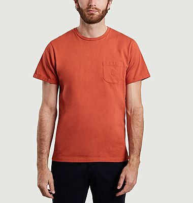 Korentin organic cotton t-shirt with embroidered pocket