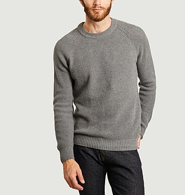 Recycled cashmere sweatshirt