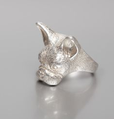 Mask Of French Bulldog Ring
