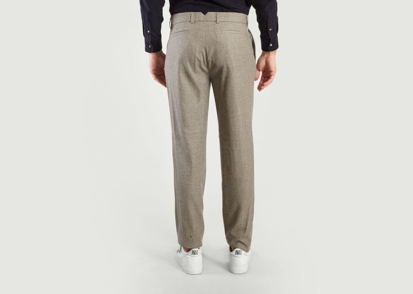 Pantalon à Pinces en Flanelle - De Bonne Facture