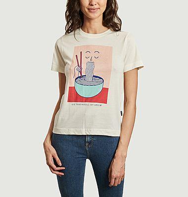 T-shirt imprimé en coton bio Mysen Noodle
