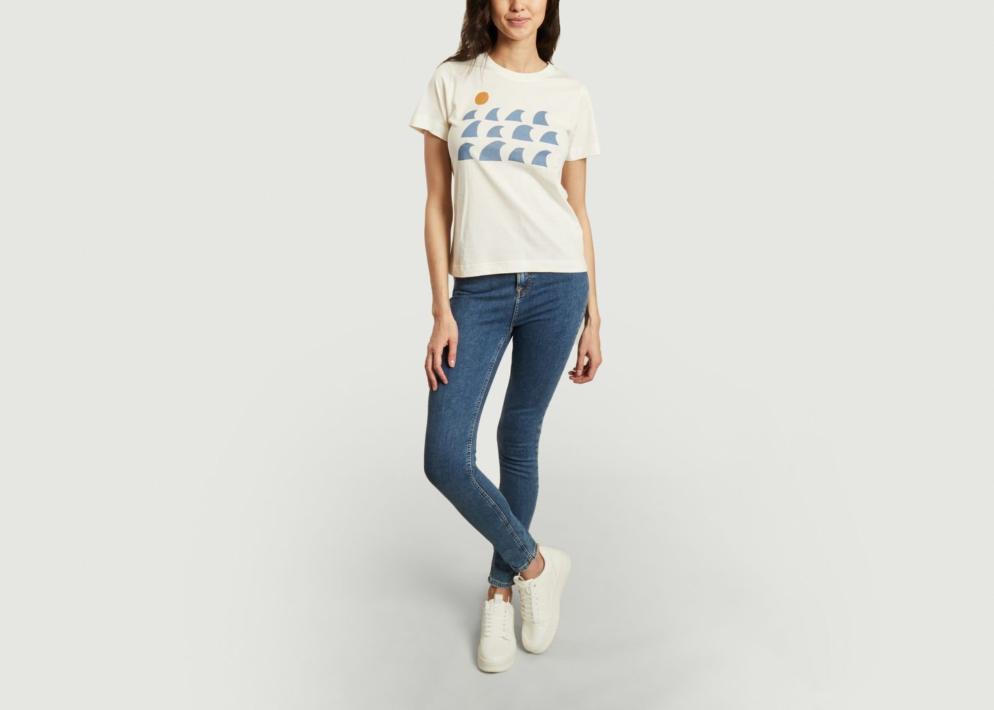 T-shirt imprimé en coton bio Mysen Rays and Waves - Dedicated Brand