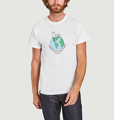 T-shirt Stockholm Snoopy Earth Dedicated Brand x Snoopy