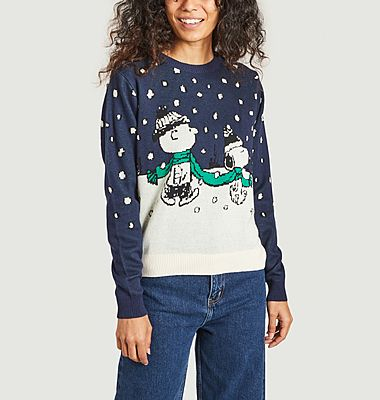 Double Scarf Peanuts Dedicated Brand x Snoopy sweater