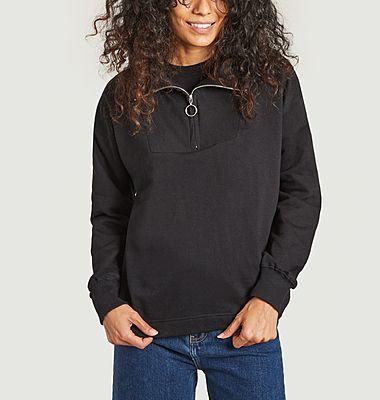Mariestad trucker collar sweatshirt