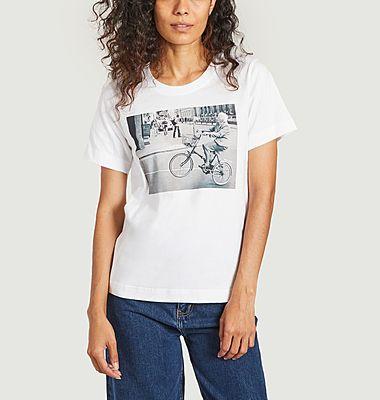 T-shirt imprimé Mysen Bike Wheelie