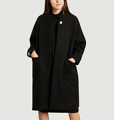Manteau long dos brodé