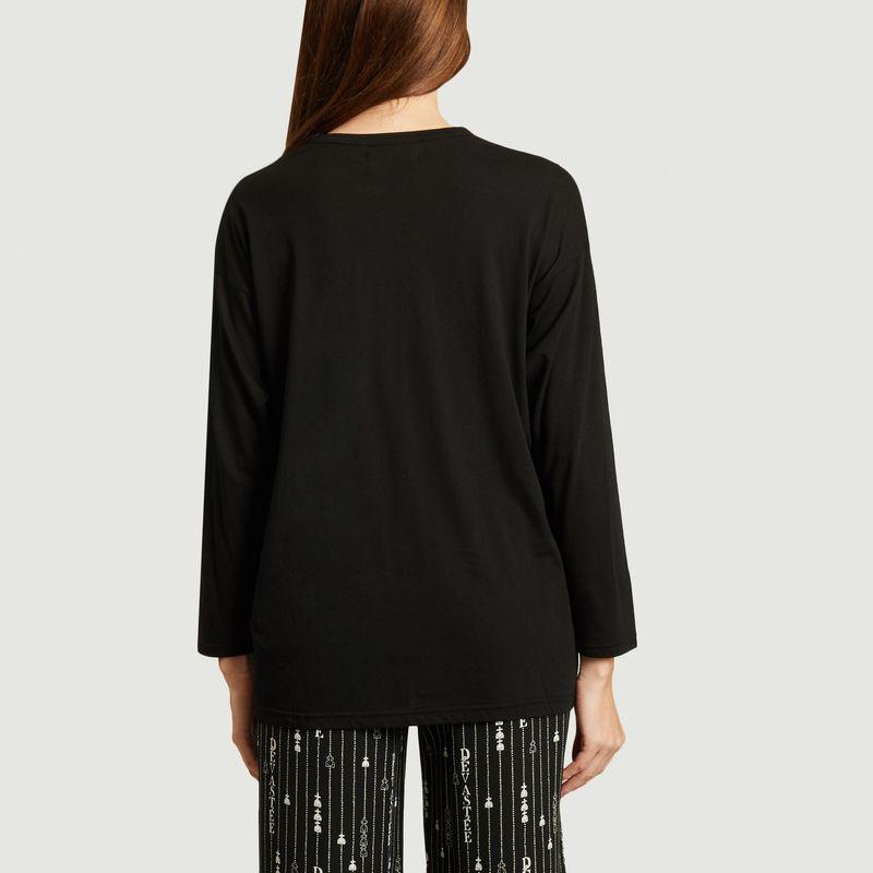 T-shirt manches longues en coton et rayonne imprimé - Dévastée