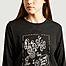 matière T-shirt manches longues en coton et rayonne imprimé - Dévastée