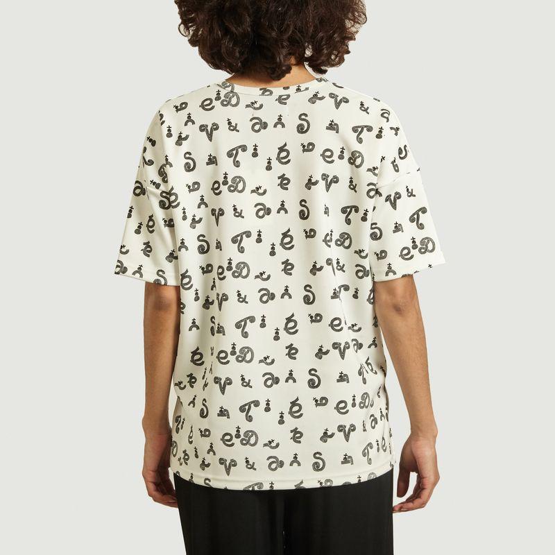 Top jersey néoprène imprimé - Dévastée