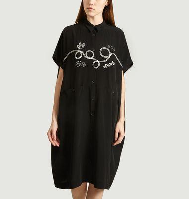 Robe chemise fluide imprimée