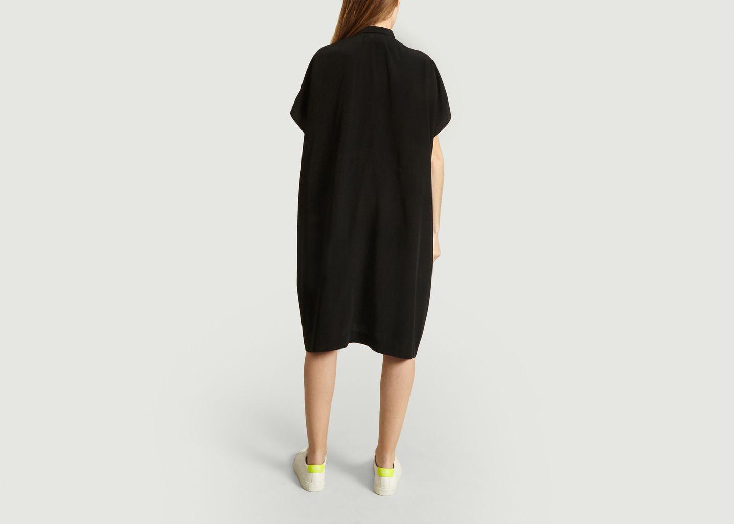 Robe chemise fluide imprimée - Dévastée