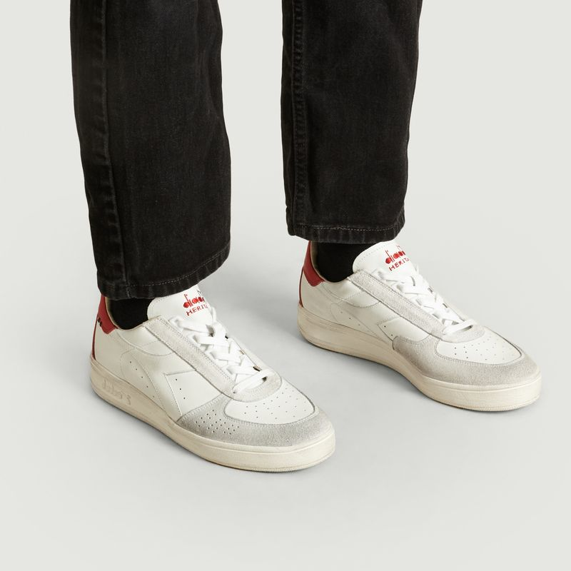 B.Elite H Leather Dirty Trainers Light