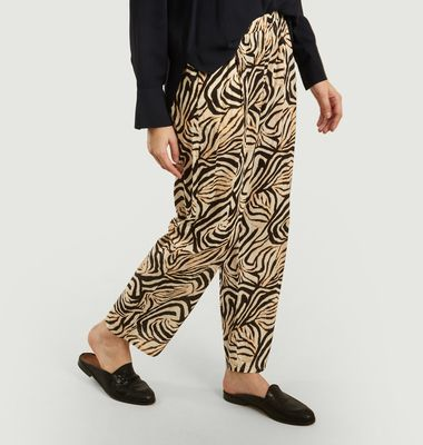 Pantalon Pumpo Imprimé Zèbre