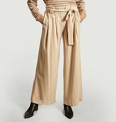 Pantalon évasé ceinturé Poyo