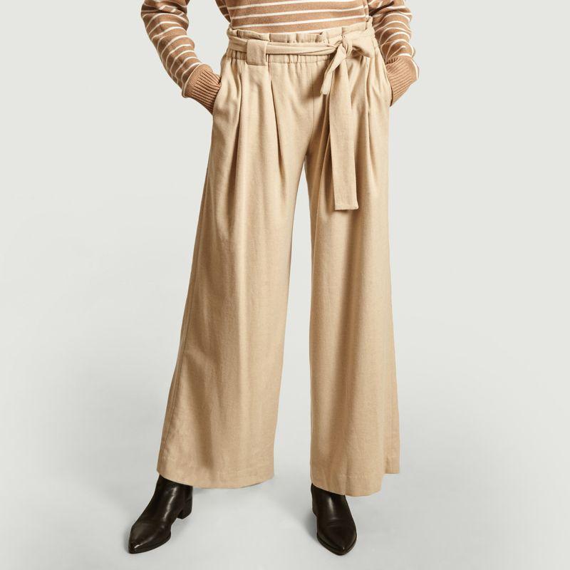 Pantalon évasé ceinturé Poyo - Diega