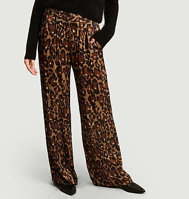Pantalon Portorico imprimé léopard