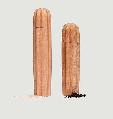 Cacti salt and pepper wood grinders