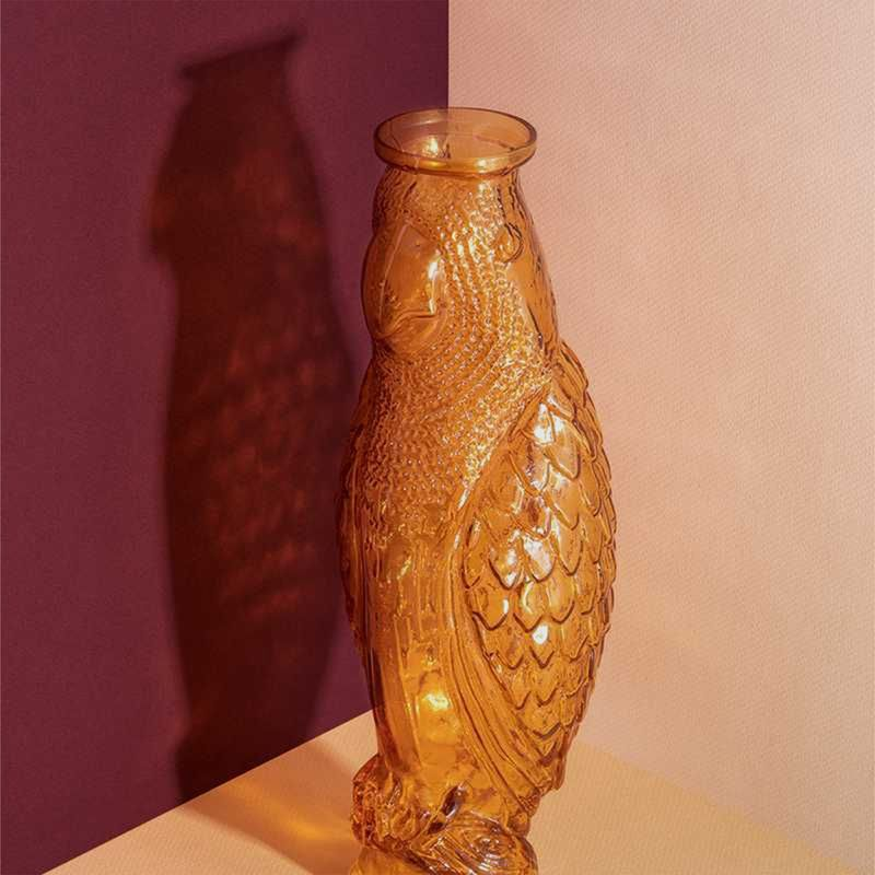 Carafe en verre cacatoès - Doiy