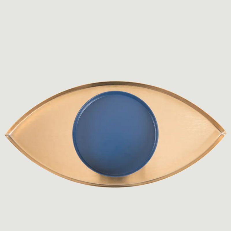 Plateau de rangement oeil en métal avec coupelle The Eye - Doiy