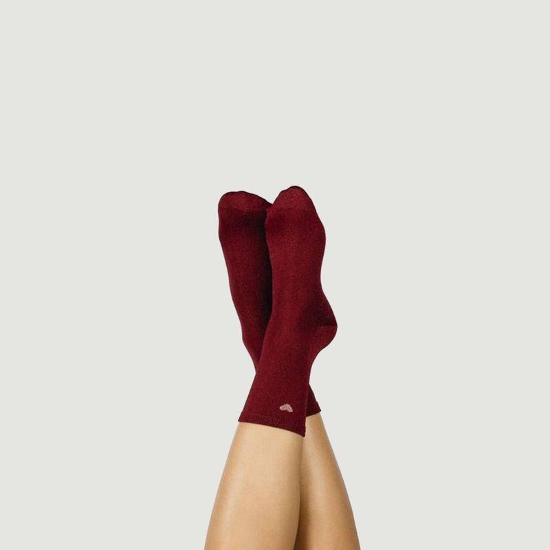 Chaussettes avec fils lurex Coeur - Doiy