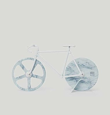 Bicycle Pizza Cutter Marble White
