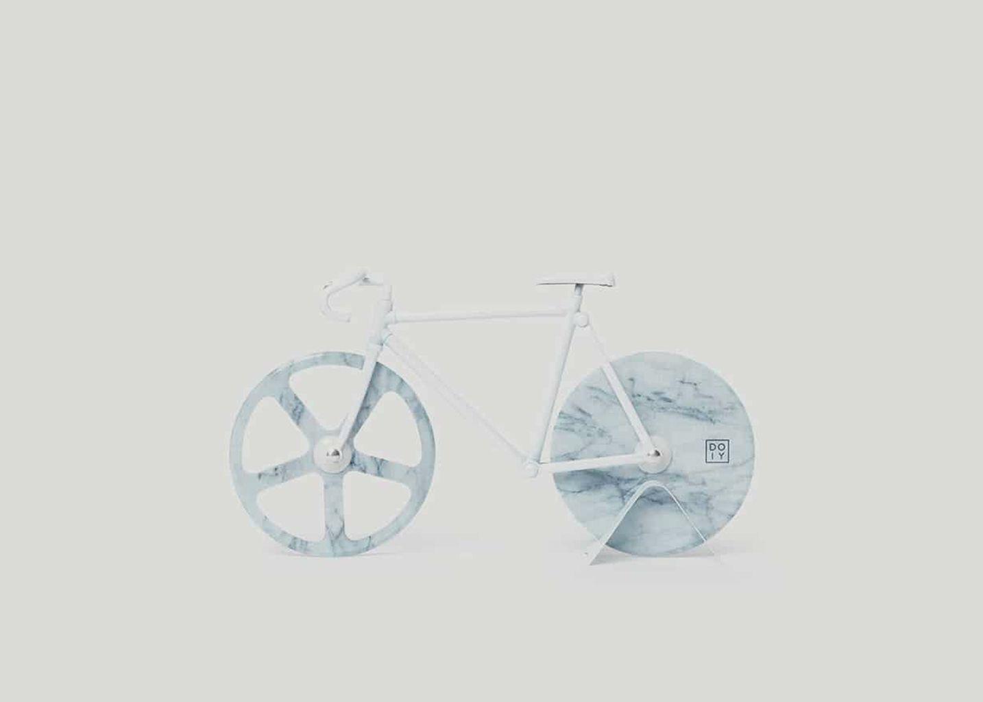 Coupe-pizza Vélo Marbre blanc  - Doiy