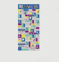90 Days In The 90's Scratch Poster