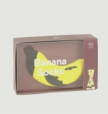 Chaussettes Bicolores Banane