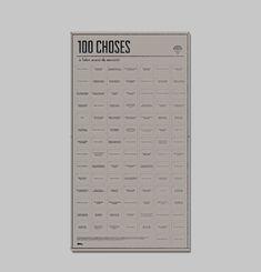 100 Choses à Faire avant de mourir