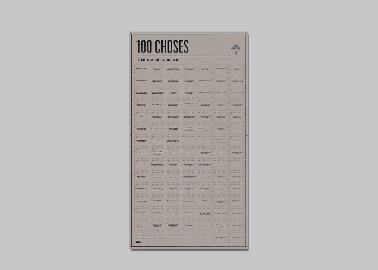 100 Choses à Faire avant de mourir - Doiy