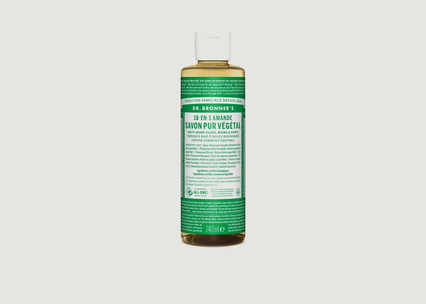 Savon liquide bio amandes - Dr Bronners