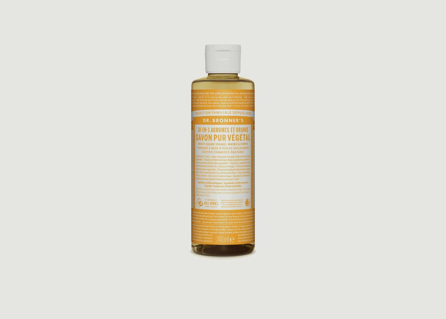 Savon liquide bio agrumes - Dr Bronners