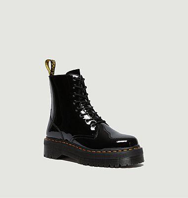 Boots Jadon en cuir verni