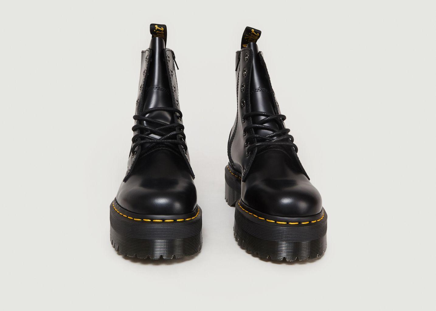 black platform boots dr martens