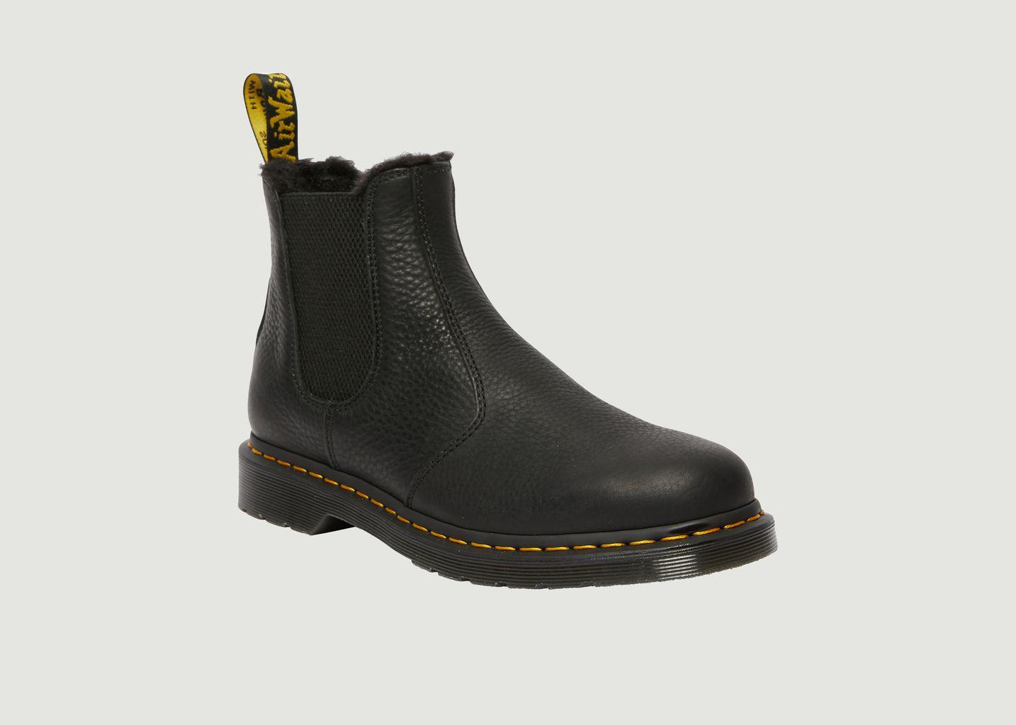 Chelsea boots en cuir et fausse fourrure 2976 - Dr. Martens