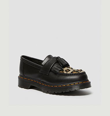 Adrian Fluff leopard leather loafers