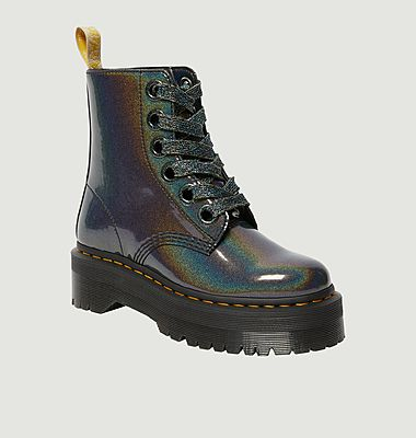 Molly Rainbow Vegan platform boots