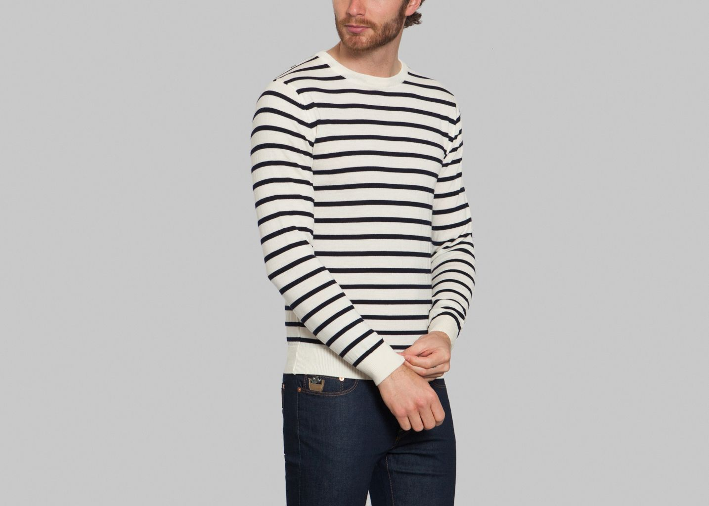 Pull Stripes - Drapeau Noir