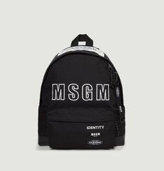 Padded Black MSGM Backpack