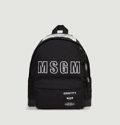 Padded Black MSGM Backpack