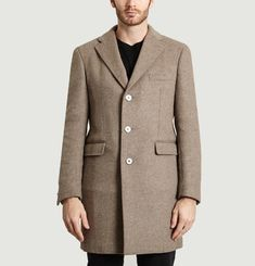 Cropped Technical Wool Coat