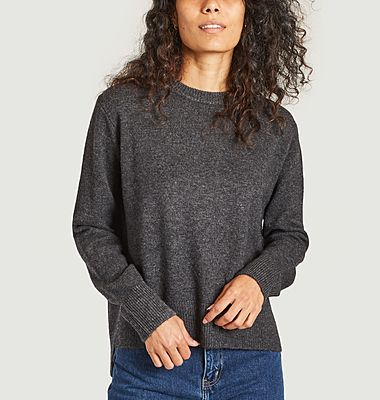 Pull col rond en laine Pino