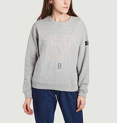 Llanes Because lettering sweatshirt