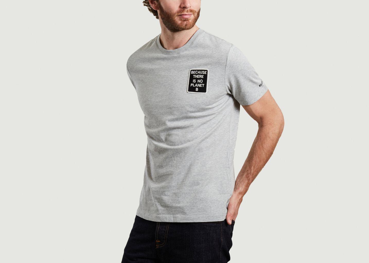 T-shirt Natal Because à patch  - Ecoalf