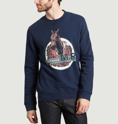 Sweatshirt Imprimé Cheval