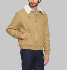 Woolen Collar Jacket