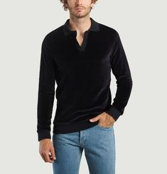 Polo Manches Longues en Velours James